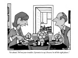 """Go ahead. Tell me your troubles. I promise to say 'Awww' in all the right…"" - New Yorker Cartoon Premium Giclee Print by William Haefeli"