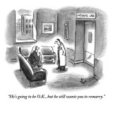 """He's going to be O.K., but he still wants you to remarry."" - New Yorker Cartoon Premium Giclee Print by Frank Cotham"