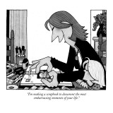 """I'm making a scrapbook to document the most embarrassing moments of your …"" - New Yorker Cartoon Premium Giclee Print by William Haefeli"