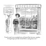 """I used to exult in my wonderful view of Central Park, but now, somehow, I…"" - New Yorker Cartoon Premium Giclee Print by Ed Fisher"