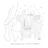 """Don't make fun, George! This one is a Cézanne."" - New Yorker Cartoon Premium Giclee Print by  Alain"