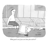 """What good is art if you can't have fun with it?"" - New Yorker Cartoon Premium Giclee Print by Peter C. Vey"