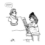 Woman playing piano. - New Yorker Cartoon Premium Giclee Print by William Steig