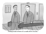 """Nobody needs to know it's a snake till it's too late."" - New Yorker Cartoon Premium Giclee Print by Peter C. Vey"