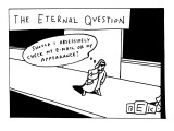 (The Eternal Question) - New Yorker Cartoon Premium Giclee Print by Bruce Eric Kaplan