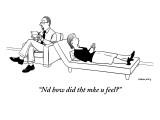 """Nd how did tht mke u feel?"" - New Yorker Cartoon Premium Giclee Print by Alex Gregory"
