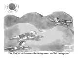 """""""Oh, God, it's Al Peterson—he already sees us and he's coming over."""" - New Yorker Cartoon Premium Giclee Print by Isaac Littlejohn Eddy"""