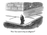 """Psst. You want to buy an alligator?"" - New Yorker Cartoon Premium Giclee Print by Frank Cotham"