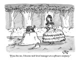 """If you kiss me, I become mid-level manager at a software company."" - New Yorker Cartoon Premium Giclee Print by Farley Katz"