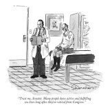 """Trust me, Senator.  Many people have active and fulfilling sex lives long…"" - New Yorker Cartoon Premium Giclee Print by Danny Shanahan"