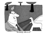 """Seriously, who is it?"" - New Yorker Cartoon Premium Giclee Print by J.C. Duffy"