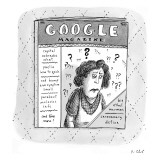 "A magazine titled ""Google Magazine"" has the following headlines: Capital N… - New Yorker Cartoon Premium Giclee Print by Roz Chast"