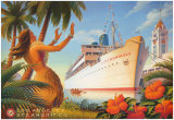 Aloha Towers Poster autor Kerne Erickson