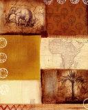 Afrikanische Collage II Kunstdrucke von Tom Alan