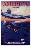 Amerika im Clipper, Englisch Poster
