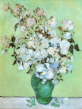 Jarrón con rosas Lámina por Vincent van Gogh