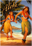 Aloha, Hawaii Plakaty autor Kerne Erickson