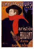 Aristide Bruant all'Ambassadeurs Stampa di Henri de Toulouse-Lautrec