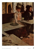 アブサン酒 ポスター : エドガー・ドガ