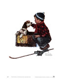 Boy Meets His Dog Kunst av Norman Rockwell