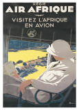 Air Afrique Affiches par A. Roquin