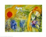 Die Verliebten von Vence Poster von Marc Chagall
