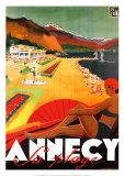 Annecy La Plage Kunstdrucke von Robert Falcucci