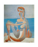 Baigneuse Assise au Bord de la Mer, c.1930 Arte por Pablo Picasso