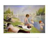 Bathers at Asnieres Posters by Georges Seurat
