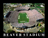 Beaver Stadium – Pennsylvania Poster von Mike Smith