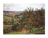 Apple Trees in Bloom at Vetheuil, c.1887 Poster von Claude Monet