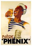 Biere Phenix Poster af Leon Dupin