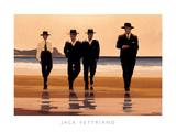 Vier mannen aan het strand: The Billy Boys Kunst van Vettriano, Jack