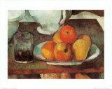 Manzanas y peras Láminas por Paul Cézanne
