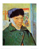 Self-Portrait with Bandaged Ear, c.1889 Poster af Vincent van Gogh