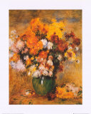Bouquet of Chrysanthemums Posters by Pierre-Auguste Renoir