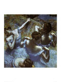 Blue Dancers Posters por Edgar Degas