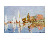 Boats at Argenteuil Posters av Claude Monet