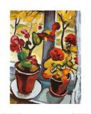 Blumen am Fenster Kunstdrucke von Auguste Macke
