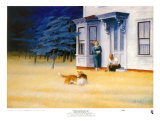 Abend in Cape Cod Kunstdruck von Edward Hopper