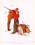 Buena puntería Láminas por Norman Rockwell