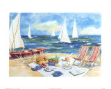 Boat on the Beach Prints by Charlene Winter Olson