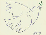 Blue Dove Art by Pablo Picasso