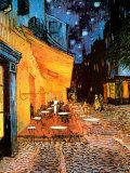 La terraza del Café de la Place du Forum, Arlés, de noche, c.1888 Póster por Vincent van Gogh