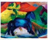 Poney bleu Poster par Franz Marc