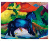 青いポニー ポスター : フランツ・マルク
