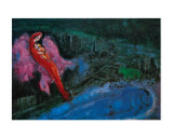 Pont sur la Seine Posters par Marc Chagall