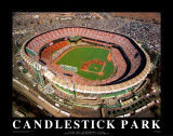 Candlestick Park – San Francisco, Kalifornien Poster von Mike Smith