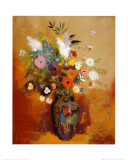 Bouquet of Flowers Lámina por Odilon Redon
