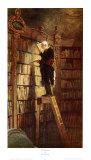 Bookworm Posters av Carl Spitzweg